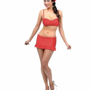 Jantzen plus size polka dot two piece swim suit